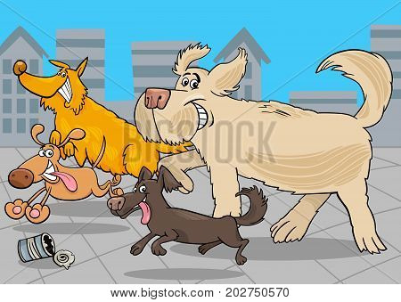 Cartoon Running Dogs Animal Characters