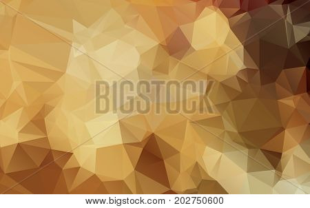 Light Orange Pattern. Seamless Triangle Pattern. Geometric Pattern.repeating Pattern With Triangle