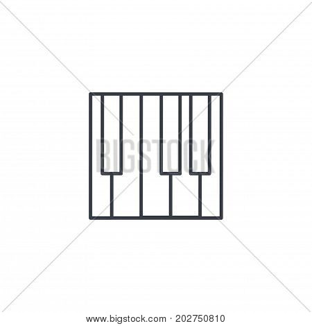 Piano keys thin line icon. Linear vector illustration. Pictogram isolated on white background