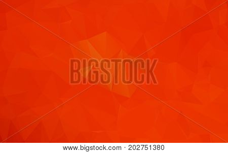 Light Orange Polygonal Illustration, Which Consist Of Triangles. Geometric Background In Origami Sty