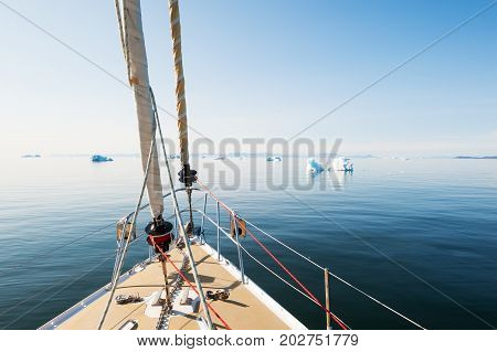 Travel By Yacht In Greenland