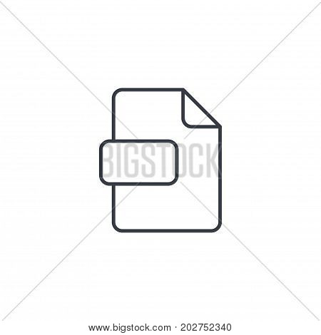file format, document thin line icon. Linear vector illustration. Pictogram isolated on white background