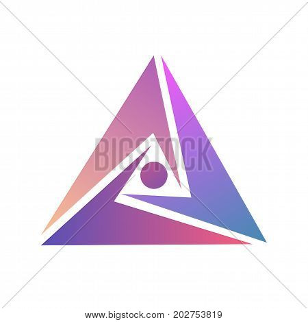 Logo triangle template. Abstract logo design. Vector triangle illustration. Modern symbol for logo design