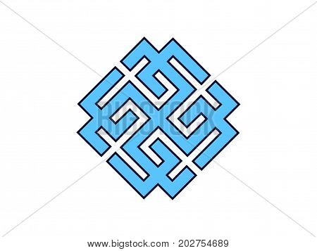 Svarozhich Is A Symbol Of The Slavic God. Vedic Symbol. Vector Illustration