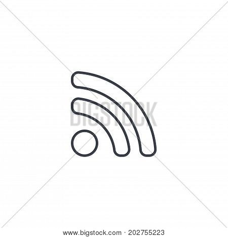 RSS News thin line icon. Linear vector illustration. Pictogram isolated on white background