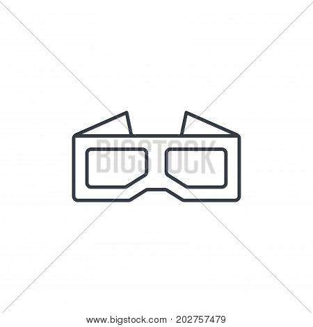 3D glasses for movie thin line icon. Linear vector illustration. Pictogram isolated on white background