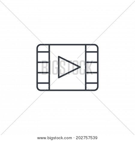 video frame, movie, film, cinema, media, player thin line icon. Linear vector illustration. Pictogram isolated on white background