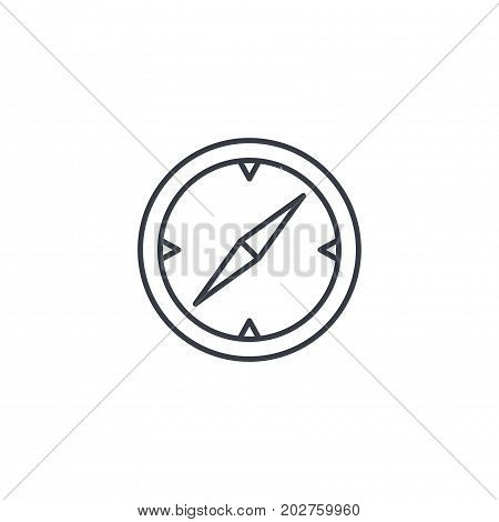 Compass, navigation thin line icon. Linear vector illustration. Pictogram isolated on white background