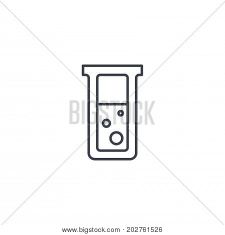 laboratory chemical beaker thin line icon. Linear vector illustration. Pictogram isolated on white background