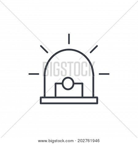 alarm signal, alert, warning siren thin line icon. Linear vector illustration. Pictogram isolated on white background