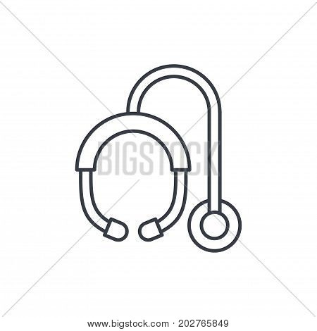 phonendoscope thin line icon. Linear vector illustration. Pictogram isolated on white background