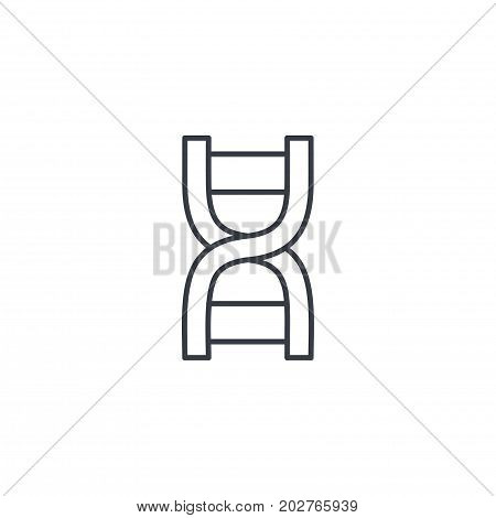 DNA, science genetic, molecule, biology thin line icon. Linear vector illustration. Pictogram isolated on white background