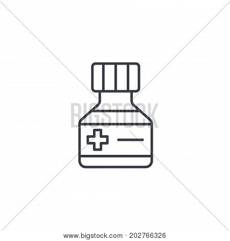 Mixture. Medical thin line icon. Linear vector illustration. Pictogram isolated on white background