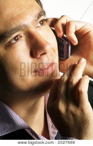 Handsome Man Mobile Talking