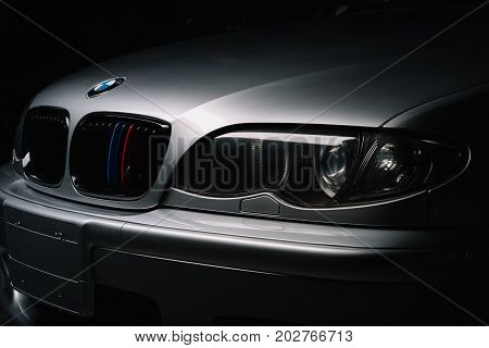 BANGKOK, THAILAND - AUGUST, 11 2017: BMW E46 is the fourth generation of the BMW 3 Series