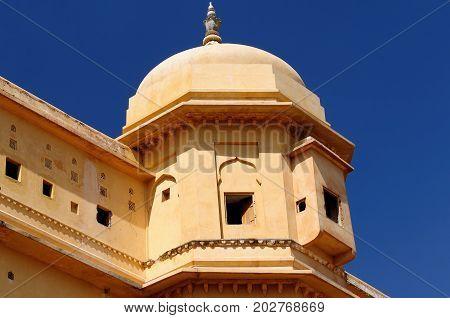Beautifoul Amber Fort near Jaipur city in India. Rajasthan