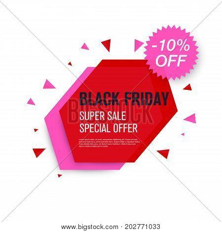 Black friday sale label. Stock vector eps10. Weekend sale banner, special offer