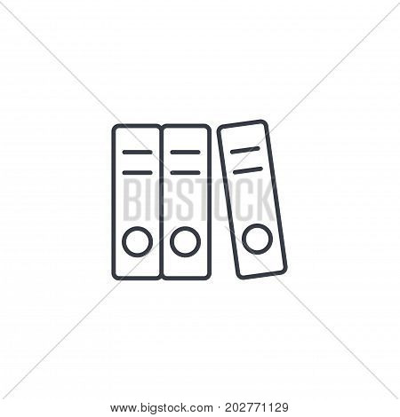 office paper file folder thin line icon. Linear vector illustration. Pictogram isolated on white backgroundfog