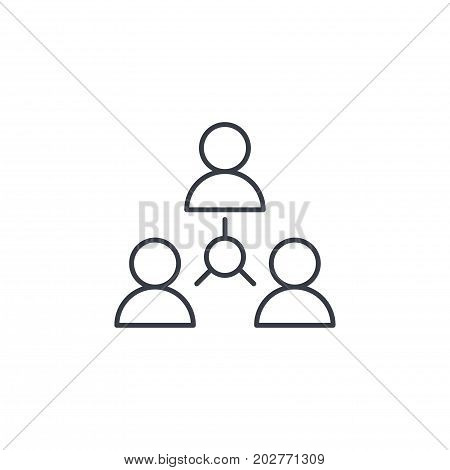 people group, community, network thin line icon. Linear vector illustration. Pictogram isolated on white background