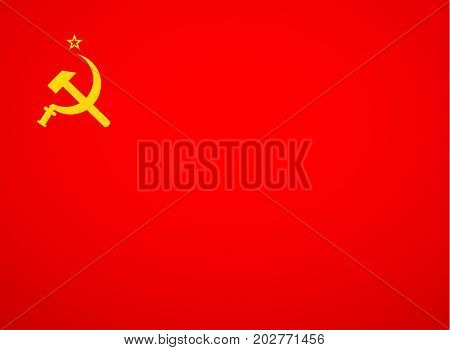 ussr flag vector  red soviet  union flag