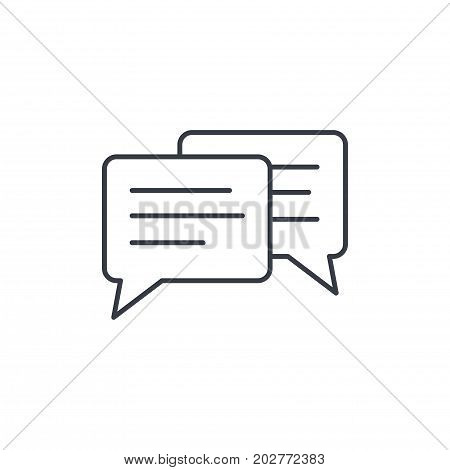 message, chat, speech bubble, talk, dialog thin line icon. Linear vector illustration. Pictogram isolated on white background