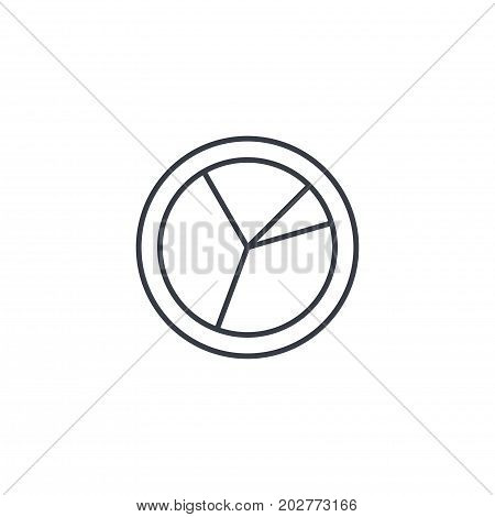 graph chart, pie diagram thin line icon. Linear vector illustration. Pictogram isolated on white background