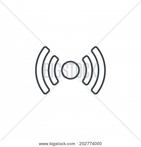 access point, wi-fi signal, antenna thin line icon. Linear vector illustration. Pictogram isolated on white background