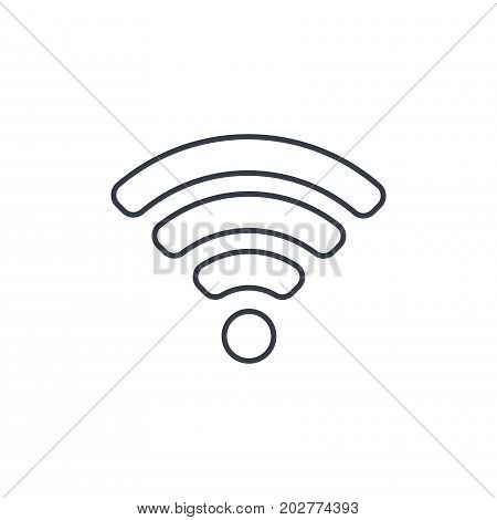 Wi-fi signal thin line icon. Linear vector illustration. Pictogram isolated on white background
