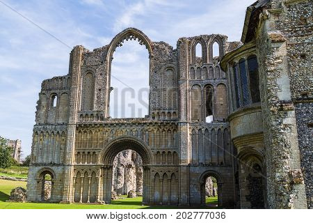Looking Up At Castle Acre Priory