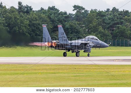 Usaf F-15E Strike Eagle Taking Off