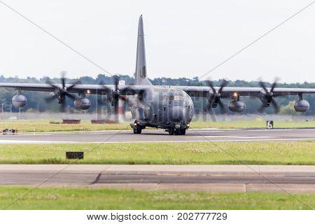Mc-130J Commando Ii Leaves The Runway At Raf Mildenhall