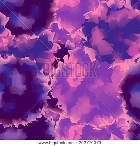 Violet Seamless Watercolor Texture Background. Mind-blowing Abstract Violet Seamless Watercolor Text