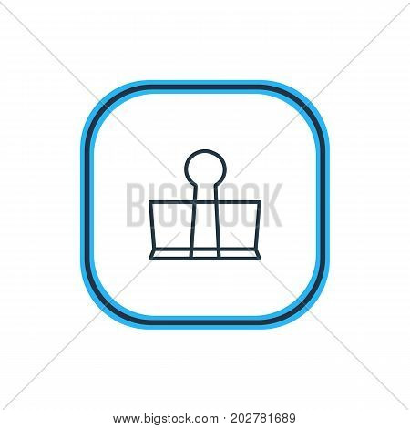 Beautiful Stationery Element Also Can Be Used As Binder Clip Element.  Vector Illustration Of Stationery Outline.