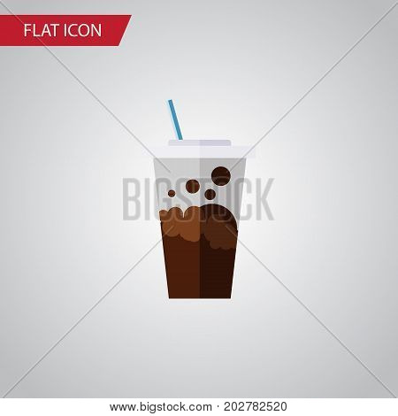 Carbonated Vector Element Can Be Used For Soda, Carbonated, Drink Design Concept.  Isolated Soda Flat Icon.