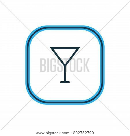 Beautiful Eating Element Also Can Be Used As Martini  Element.  Vector Illustration Of Cocktail Outline.