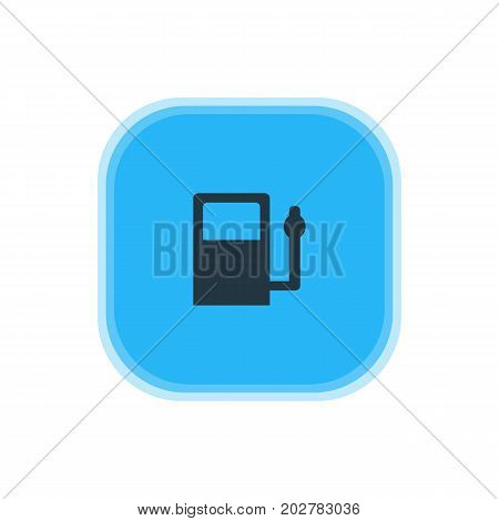 Beautiful Travel Element Also Can Be Used As Refueling Element.  Vector Illustration Of Gas Station Icon.