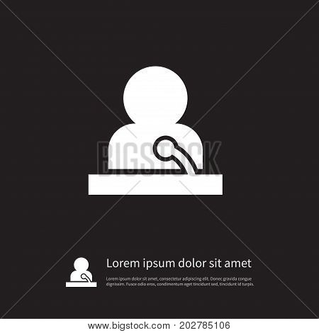 Microphone Vector Element Can Be Used For Speaker, Man, Microphone Design Concept.  Isolated Speaker Man Icon.