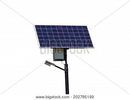 Solar panel isolated on the white background