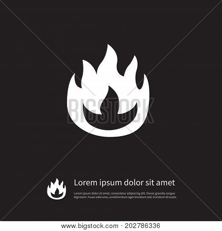Flame Vector Element Can Be Used For Fire, Flame, Blaze Design Concept.  Isolated Fire Icon.