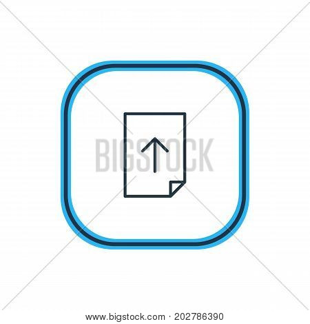 Beautiful Document Element Also Can Be Used As Download  Element.  Vector Illustration Of Upload Outline.
