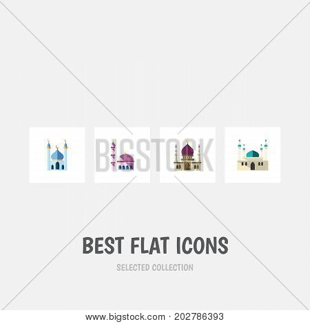 Flat Icon Minaret Set Of Architecture, Building, Structure And Other Vector Objects
