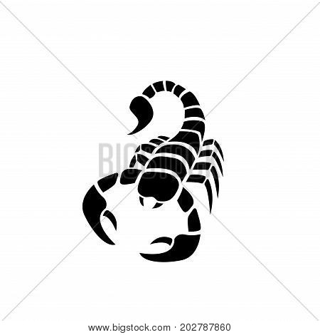 Scorpion icon in simple tattoo stylevector design