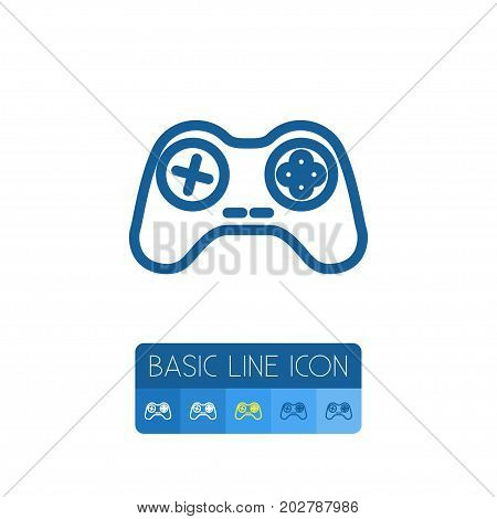 Console Vector Element Can Be Used For Console, Arcade, Gamepad Design Concept.  Isolated Gamepad Outline.