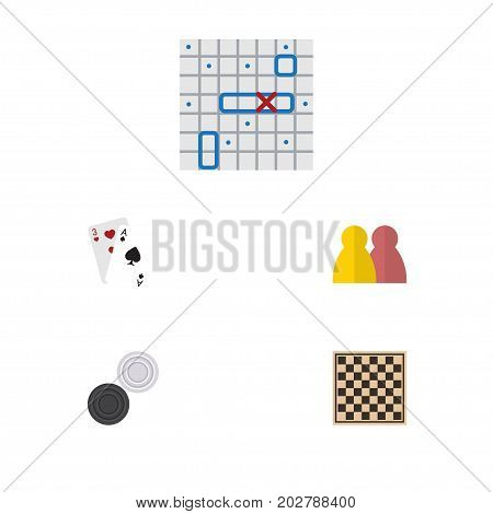Flat Icon Play Set Of Sea Fight, People, Chess Table And Other Vector Objects