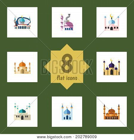 Flat Icon Minaret Set Of Muslim, Religion, Architecture And Other Vector Objects