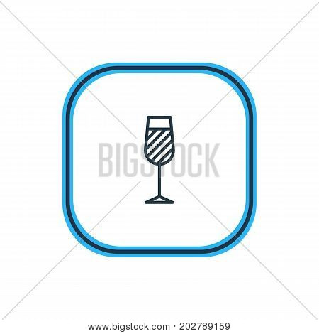 Beautiful Drinks Element Also Can Be Used As Goblet Element.  Vector Illustration Of Wineglass Outline.