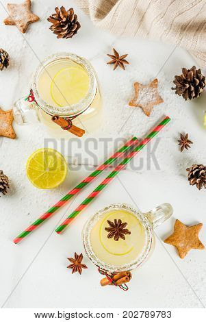Festive Snowball Cocktail