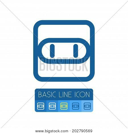 Socket Vector Element Can Be Used For Socket, Outlet, Electricity Design Concept.  Isolated Outlet Outline.
