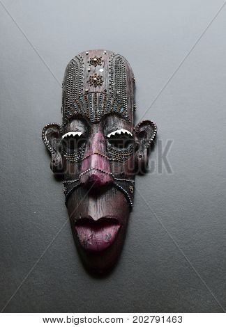 The African masks are used by inhabitants of Africa The African masks serve as a peculiar conductor to other world of spirits