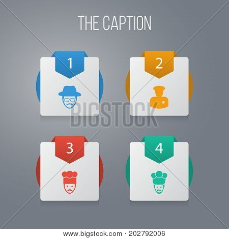Icon Human Set Of Chef, Sheriff, Investigator And Other Vector Objects